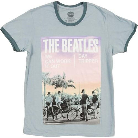 THE BEATLES We Can Work It / Out Day Tripper Gray Unisex Short Sleeve T-Shirt
