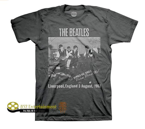 THE BEATLES Charcoal Unisex Short Sleeve T-Shirt
