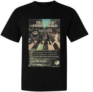 THE BEATLES Abbey Road 8 Track Tape Cover Art Black ShortSleeve T-Shirt