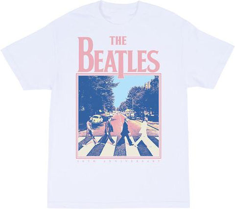 THE BEATLES Abbey Road 50th Anniversary White Unisex Short Sleeve T-Shirt