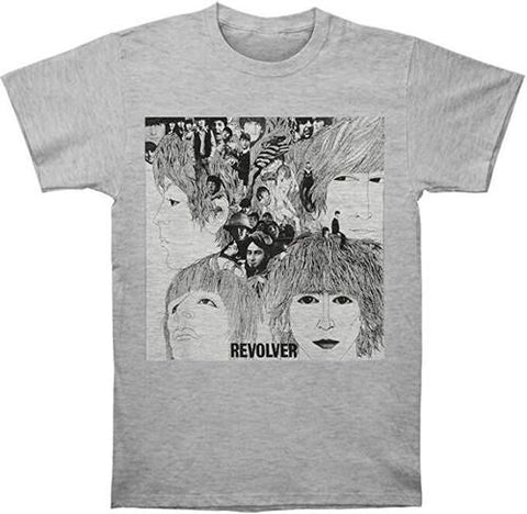 THE BEATLES Revolver Album Cover Heather Grey Unisex Short Sleeve T-Shirt