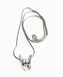 Lobo WOOF Silver Necklace