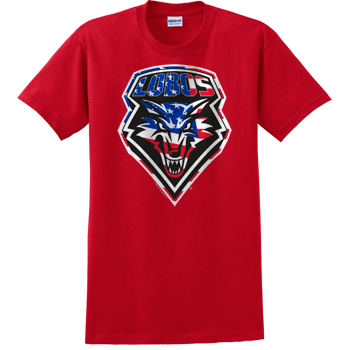 UNM Lobos Patriotic Shield Tee