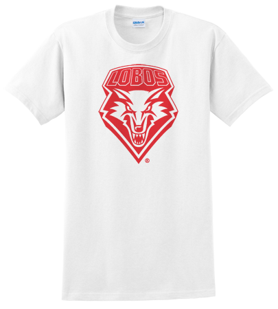 UNM White Out Red Shield Tee