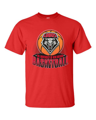 UNM Red Basketball Tee