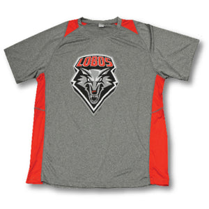 UNM Grey/Red Performance Tee