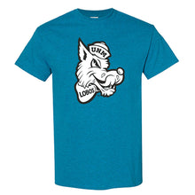 Load image into Gallery viewer, UNM Retro Lobo Turquoise Tee