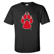Load image into Gallery viewer, UNM Paw with  Lobo Back Black Tee