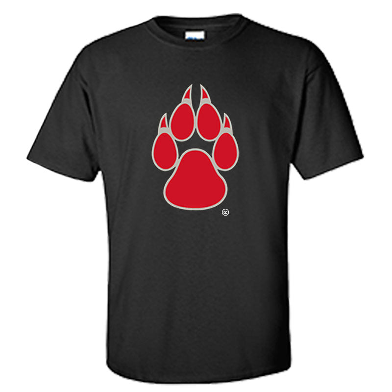 UNM Paw with  Lobo Back Black Tee