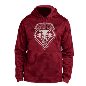 UNM Red Camohex Performance Hood