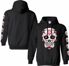 Load image into Gallery viewer, Black Lobo Sugar Skull Hoodie-Adult