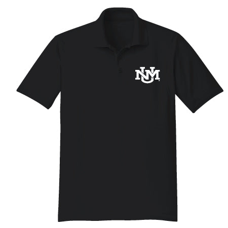 UNM Monogram Black Polo