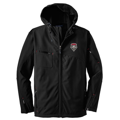 UNM Men's Soft Shell Hooded Jacket