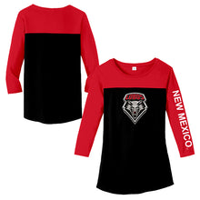 Load image into Gallery viewer, UNM Ladies 3/4 Sleeve Tee