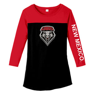 UNM Ladies 3/4 Sleeve Tee