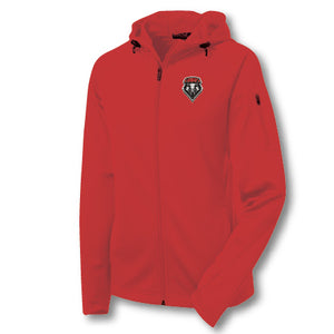 Ladies Red Performance Jacket with Shield