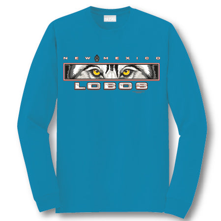 Turquoise Lobo Eyes Long-Sleeve Tee