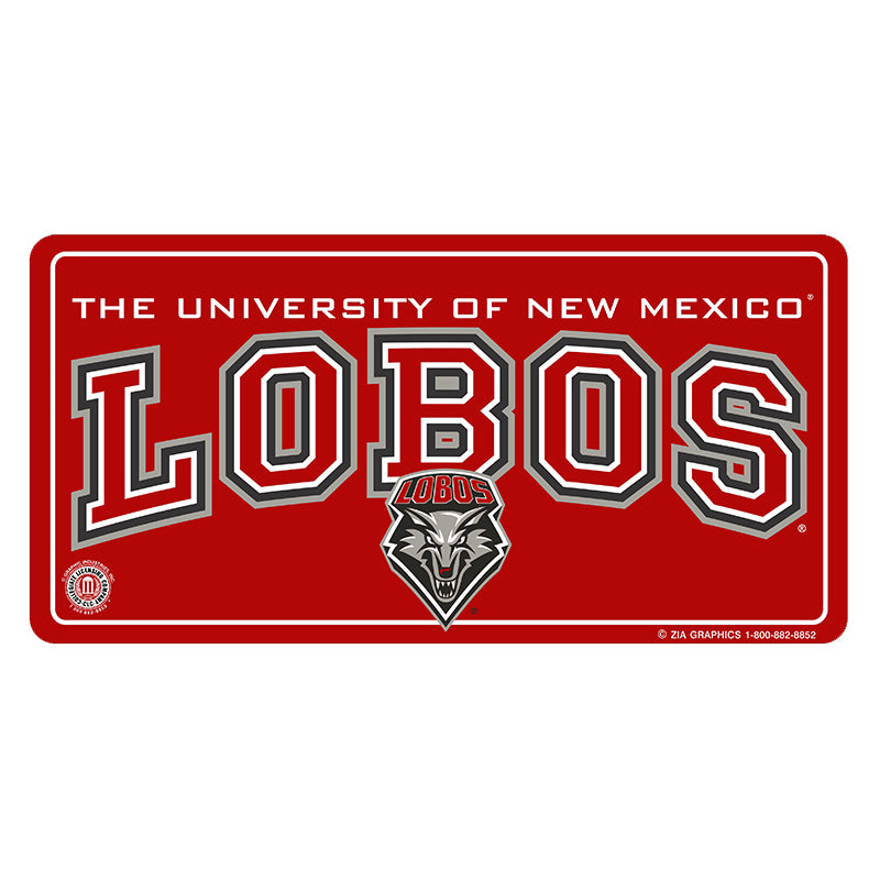 UNM Red License Plate