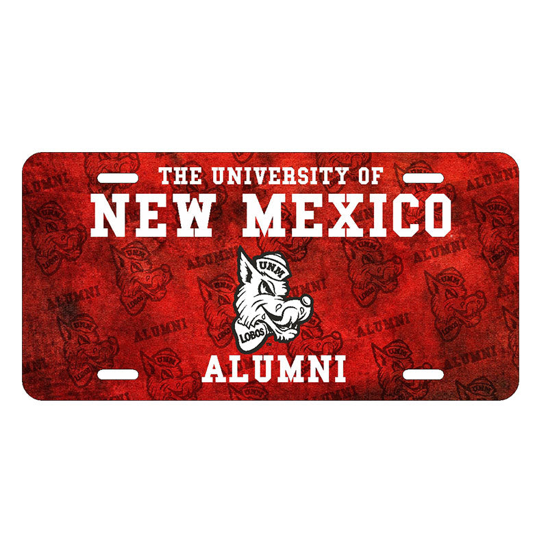UNM Retro Alumni License Plate