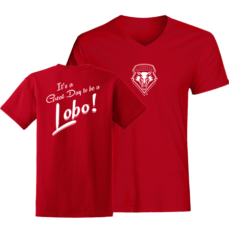 Great Day to be a Lobo Ladies V-Neck T-Shirt