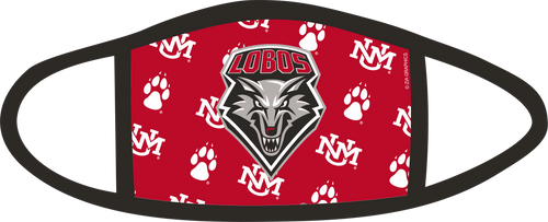 Lobo Shield Red Poly-Stretch Mask