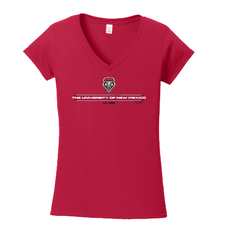 UNM Est. 1889 Ladies Red T-Shirt