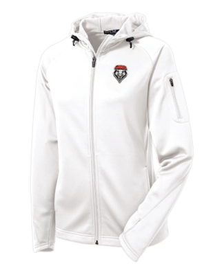 Ladies White Performance Jacket with Shield