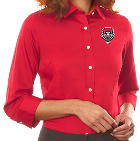 Lobos Ladies Red Twill Shirt