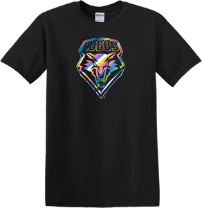 UNM Lobos Cancer Colors Shield Tee