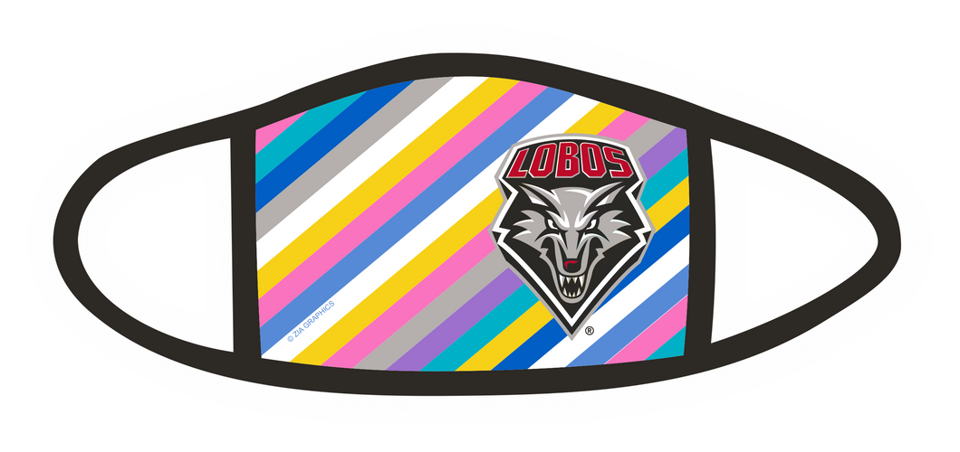 UNM Cancer Ribbon Full Color Mask