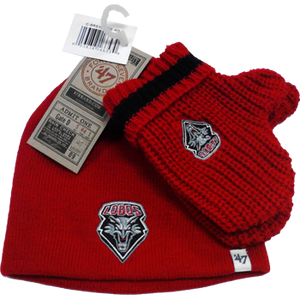 Lobo Red Baby Rae Knit Beanie Mitten Set by 47 Brand