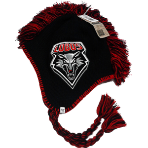 Lobos Black Mohican Knit Hat by 47 Brand