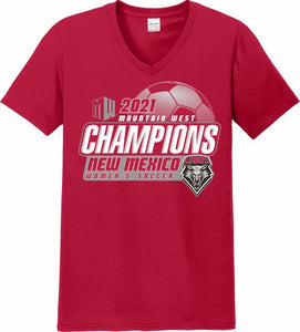 Women's Soccer 2021 Mountain West Champions V-Neck