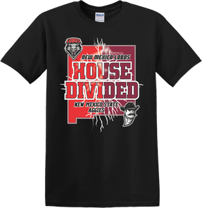 UNM House Divided Black T-Shirt