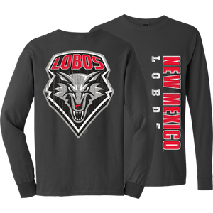 New Mexico Lobos Distressed Long Sleeve Tee