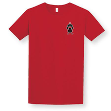 Load image into Gallery viewer, Red Lobos Paw Adult T-Shirt