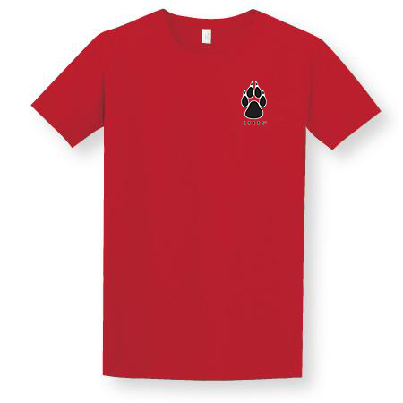 Red Lobos Paw Adult T-Shirt