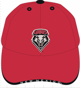 Red UNM Shield Adjustable Cap