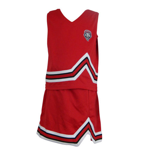 Red UNM Shield Toddler Cheer Dress
