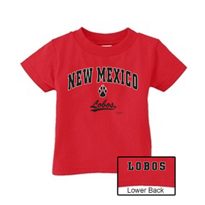 Youth Red Lobos Paw T-Shirt