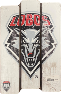 Lobo Shield Picket Fence Wall Sign