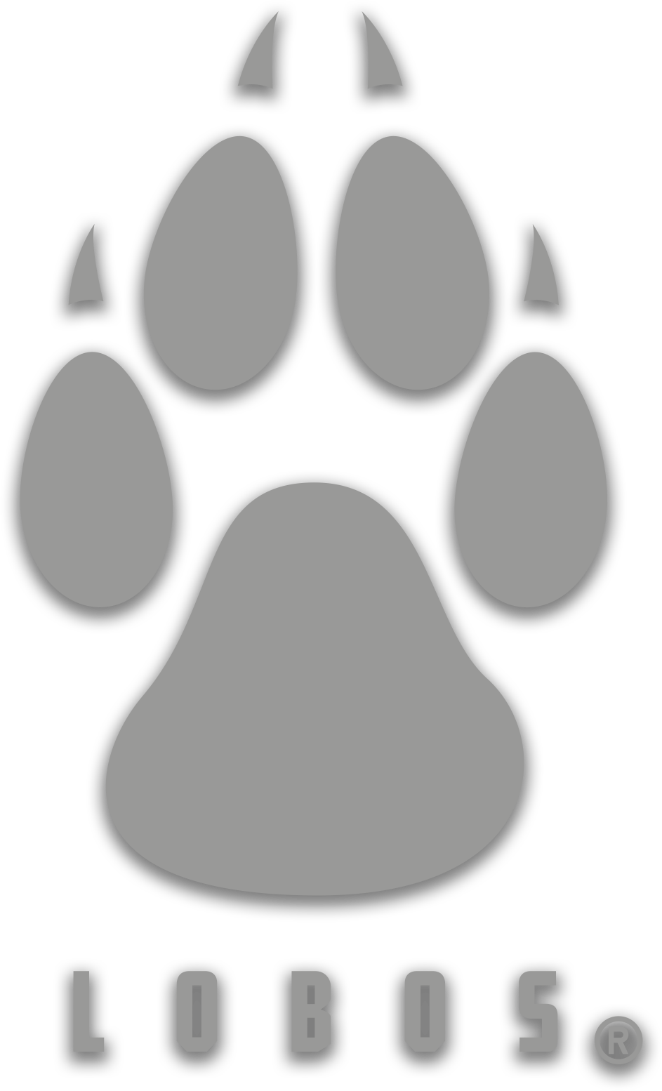 Lobos Paw Window Decal - Silver