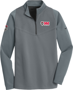 UNM Alumni Lettermen Grey Nike Therma-Fit Pullover