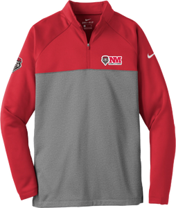 UNM Alumni Lettermen Red/Gray Nike Performance Pullover