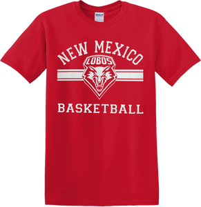 UNM Basketball Shield Tee