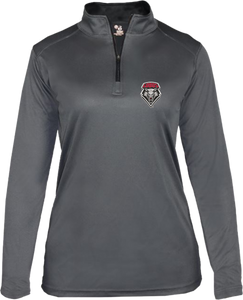 Gray Lobo Shield Ladies Performance 1/4 Zip