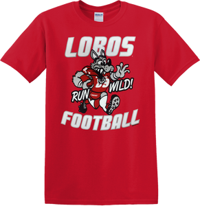 Lobos Run Wild Youth Football T-Shirt