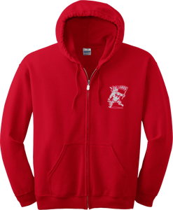 1948 Lobos Red Zip Hood