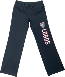Ladies Black Lobos Yoga Pants
