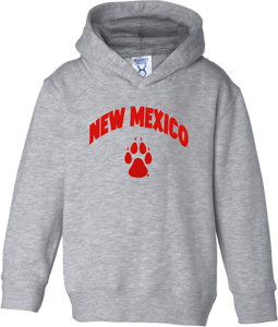 New Mexico Paw Grey Toddler Hood